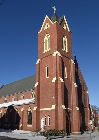 BRYAN EATON/Staff photo. The Immaculate Conception Church at the top of Green Street in Newburyport.