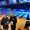 BRYAN EATON/Staff Photo. Anthony Decontis, left, and Steve Belmonte in their new bowling lanes named Game Time at the former Leo's in Amesbury.