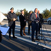 BRYAN EATON/Staff Photo. Massachusetts State Police Colonel Christopher Mason addresses the media as traffic crawls by.