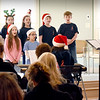 BRYAN EATON/Staff Photo. The Greater Newburyport Children's Chorus performed seasonal songs at the Newburyport Senior and Community Center for their weekly Community Day. After their hour long show the youngsters mingled with the seniors and had refreshments together.