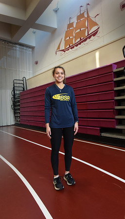 BRYAN EATON/Staff Photo. Newburyport's Liberty Palermino has gotten off to a great start as one of the area's top middle distance runners this indoor track season.