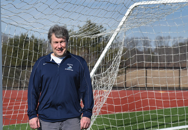 BRYAN EATON/Staff photo. Longtime Triton soccer coach Brad Smith is retiring after nearly 32 years at Triton.