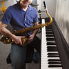 BRYAN EATON/Staff photo. Local saxophone player Dave Perkins has played plenty of benefit gigs, but this weekend the show will be for him.