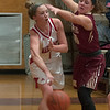 JIM VAIKNORAS/Staff photo Masconomet's Paige Amyouny looks to pass at home against Newburyport Friday night.