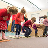 "JIM VAIKNORAS/Staff photo Students in Mary Jo Lagana's pre-school class. at the Newbury Elementary School sing a song about Chinese New Year. The bow when the sing "" Hung Hay Fat Choy"" which mean Happy New Year."