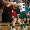 JIM VAIKNORAS/Staff photo Mascomonet Chloe Grande looks to pass Friday night at Pentucket.