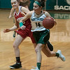 JIM VAIKNORAS/Staff photo Pentucket's Isabella Doyle brings the ball up against Mascomonet Friday night at Pentucket.