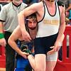 JIM VAIKNORAS/Staff photo Georgetown-Ipswich's Matt Mansfield wrestles Garrett Vartanian of Quabbin at the D3 State Tournament at Wakefield High Saturday.