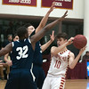 JIM VAIKNORAS/Staff photo Newburyport's Bretton Ross looks to pass against Lynn Tech at Newburyport Tuesday night.