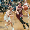 JIM VAIKNORAS/Staff photo  Newburyport's Krysta Padellaro drives to the basket at Masconomet Friday night.