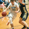 JIM VAIKNORAS/Staff photo Triton's Will Parson drives to the basket against Lynnfield at Triton Friday night.