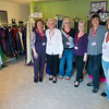 JIM VAIKNORAS/Staff photo The crew at opening day at Tammi's Closet in Amesbury from the left: Nancy Noseworthy, Sandy Smith , Diane Bezanson-Welch, Pat Smith, Cindy Hoyt and Betty Vitale. is a a non-profit organization named in memory of Vitale's daughter who passed away at a young age. Her goal is to collect and give away prom dresses and accessories to girls in need.