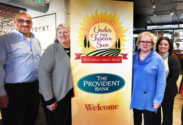 BRYAN EATON/Staff photo. Anna Jaques Hospital Aid Association board members, from left, Matt Khatib, Mary Ann Abbott, Anne Tuthill and Linda Salah.