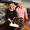BRYAN EATON/Staff photo. Jill Passen and Tom Quill have opened their Angry Donut shop at 38 Washington Street in Newburyport.