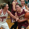 JIM VAIKNORAS/Staff photo  Newburyport's Anna Hickman is guarded by Paige Amyouny at Masconomet Friday night.