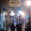 JIM VAIKNORAS/Staff photo A heavey wet snow falls on State Street in Newburyport Saturday night.
