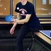 BRYAN EATON/Staff photo. Amesbury High School's Student Advisory Council is holding its annual Frost Fest, a week of free fun afterschool since returning from school vacation with events every day. Tuesday was games of ping pong, with student chairman Mike Gonthier, pictured, playing with board member Mike Amundsen.