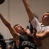 JIM VAIKNORAS/Staff photo  Pentucket's Jeff Porter scores at Lynnfield Saturday night.