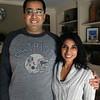 BRYAN EATON/Staff photo. Dr. Ahmer Ibrahim and wife Afroz Khan in their Newburyport home