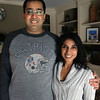 BRYAN EATON/Staff photo. Dr. Ahmer Ibrahim and wife Afroz Khan in their Newburyport home