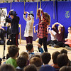 "BRYAN EATON/Staff photo. River Valley Charter School students performed some musical numbers in a play they put on Friday morning. The play ""Mastering Math,"" is about a woman named Sherlock who wants to solve mysteries but doesn't have the problem-solving skills."