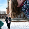 BRYAN EATON/Staff photo. Kylie Dunphy, 14, scopes out some photos of friends in the playground at the Newburyport Rec Center on Wednesday. The Nock Middle School student is volunteering to take photos for the Department of Youth Services for an upcoming brochure.