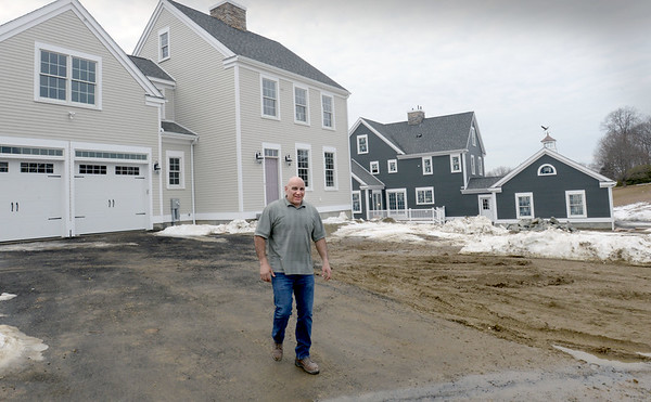 BRYAN EATON/Staff photo. Developer Rick Saba at his Hawkswood Estates development in Amesbury.