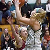 BRYAN EATON/Staff photo. Pentucket's Angelica Hurley lays up for two but comes short on this drive.