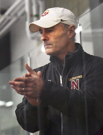 BRYAN EATON/Staff photo. Newburyport High School hockey coach Paul Yameen.