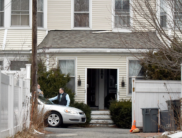 BRYAN EATON/Staff Photo. 18 Strong Street in Newburyport where a woman was injured and taken to the hospital.