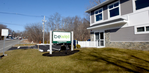 BRYAN EATON/Staff Photo. beWell Organic Medicine, a medical cannabis dispensary that opened last week on Broad Street in Merrimac halfway between the downtown and Interstate 495.