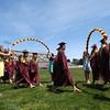 JIM VAIKNORAS/Staff photo <br /> Newburyport senior make their way into World War Memorial Stadium for graduation Sunday.