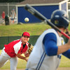 BRYAN EATON/ Staff Photo. Legion Post 150 pitcher Ryan Kuchar hurls against a Methuen player.