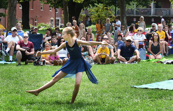 """BRYAN EATON/Staff photo. Sophia Ellsworth, 11, of Seabrook performs her lyrical dance number to the music of """"Dream."""""""