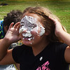 BRYAN EATON/Staff photo. Youngsters at the Boys and Girls Club were playing Walk the Plank Trivia where the loser gets a whipped cream pie in the face, in this round, Savannah Beauvais,10. It is Ooey Gooey week at the club in Salisbury.