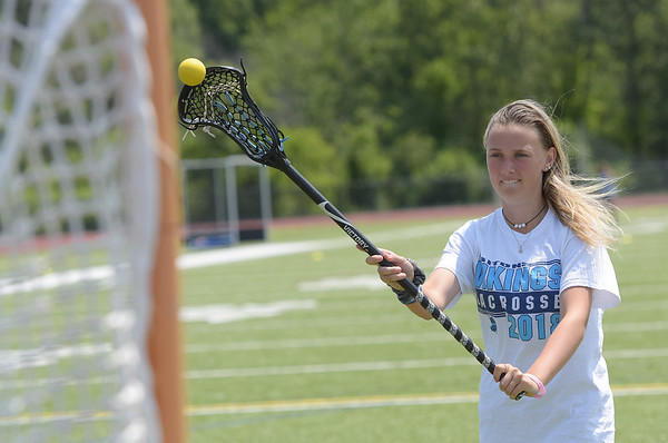TIM JEAN/Staff photo<br /> <br /> Paige Volpone, 16, of Newbury, is an outstanding girls lacrosse player at Triton Regional High School. Volpone also plays volleyball and basketball.   7/11/18