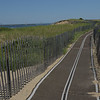 TIM JEAN/Staff photo<br /> <br /> Mobi-Mats recently placed on Plum Island beach access ways help with the dune erosion. The mats lead from Reservation Terrace and 69th St., over the dunes into the beach. 7/10/18