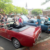 JIM VAIKNORAS/Staff photo A 1966 2 door Ford Mustang convertable at the Amesbury Days Carriagetown Car Show in Market Square.