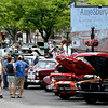 JIM VAIKNORAS/Staff photo People check out the classic cars at the Amesbury Days Carriagetown Car Show in Market Square.