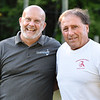 BRYAN EATON/Staff photo. Amesbury track coaches Ernie Bissaillon and assistant Keith Walton.