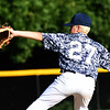 JIM VAIKNORAS/Staff photo Triton's Tony Silva pitches  against Dover in the River Rivals Baseball League 12-year-old championship game.