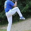 TIM JEAN/Staff photo<br /> <br /> Joe White, of Georgetown warms up to pitch for the Rowley Rams baseball team.    7/11/18