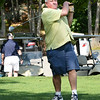 BRYAN EATON/Staff photo. Tom Secino tees off at the Yankee Homecoming Golf Tourament. The tournament is followed a harbor cruise and dinner on the Captain's Lady catered by the Starboard Galley.