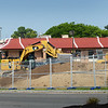 BRYAN EATON/Staff photo. Heavy equipment prepares the lot between McDonald's and Wendy's on Storey Avenue in Newburyport for a mixed use development.