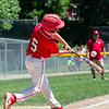 AMANDA SABGA/Staff photo<br /> <br /> Amesbury's Zach Hawrylciw (5) at bat during a game against Beverly at the Harry Ball Field in Beverly.<br /> <br /> 7/7/18
