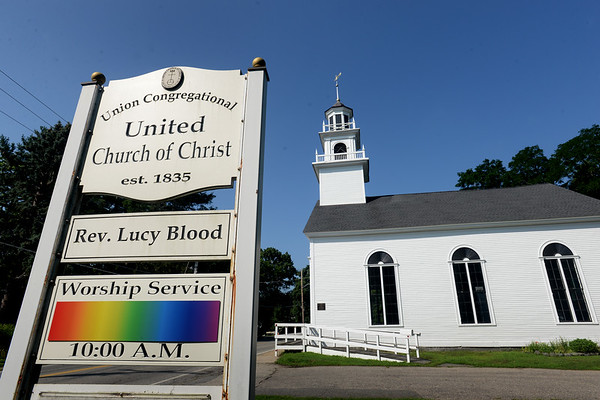 BRYAN EATON/Staff photo. The Union Congregational Church on Amesbury's Point Shore.