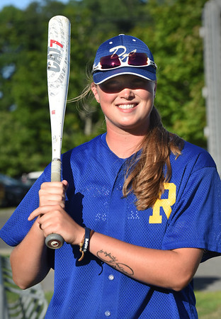 BRYAN EATON/Staff photo. Courtney Cashman is believed to be the first girl to play in the Intertown Twilight League in the league's 90-year history. She plays for the Rowley Rams.