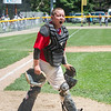 AMANDA SABGA/Staff photo<br /> <br /> Amesbury's catcher Will Aresenault (11) screams our in excitement after defeating Beverly in a game at the Harry Ball Field in Beverly.<br /> <br /> 7/7/18