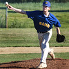 BRYAN EATON/Staff photo. Rowley Rams pitcher Cope in action with Manchester-Essex.