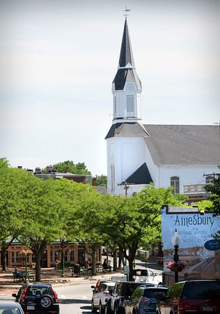 BRYAN EATON/Staff photo. The Market Street Baptist Church off downtown Amesbury.